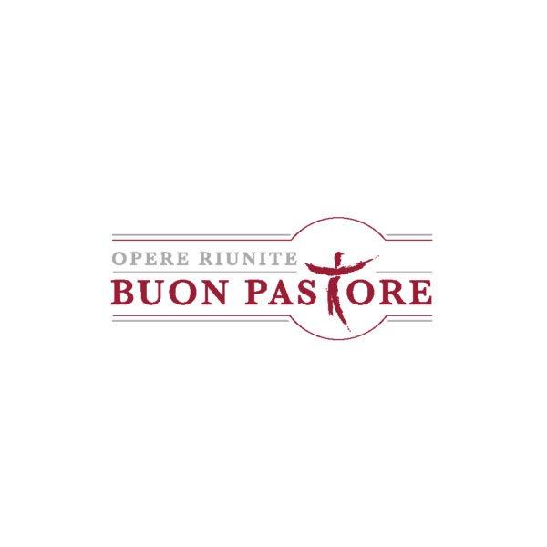 buon pastore opere riunite, design del logo creato a Treviso nello studio di comunicazione, grafica e web Rombo Rosso
